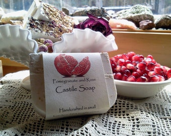 Pomegranate and Rose Castile Soap