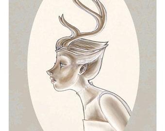 Antlers - Original Illustration limited edition fine art gicleé print