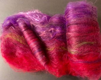 SPINNING BATT with matching ROLAG.  Right price to try spinning something new. Both spin like a dream