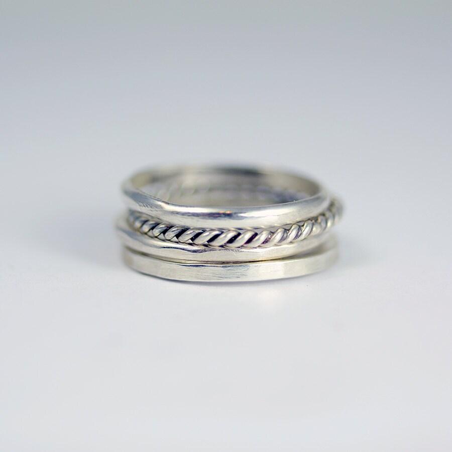 Sterling Silber Ringe Silber Ringe Silber Stapeln Ringe
