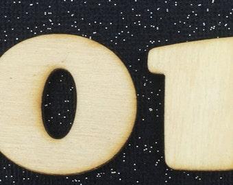 Unfinished Wood Number