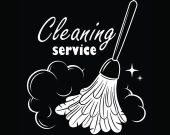 Cleaning Logo #48 Maid Service Housekeeper Housekeeping Clean Floor Mop Mopping.SVG .EPS .PNG Digital Clipart Vector Cricut Cutting Download