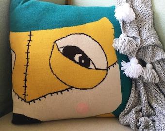 Fox Cushion - Teal