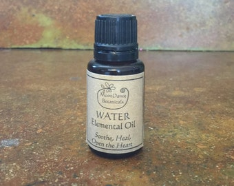 Water Elemental Oil Blend - Soothe, Heal and Open the Heart; By MoonDance Botanicals - 1/2 OZ