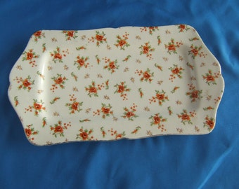 Chintz Platter or Bread Tray Made in Japan REDUCED