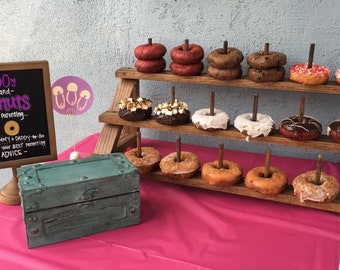 Custom Donut Stand.  Half Sized Version of Big Donut Stand.  Can be adapted to fit Cake Pops or Push Pops too!