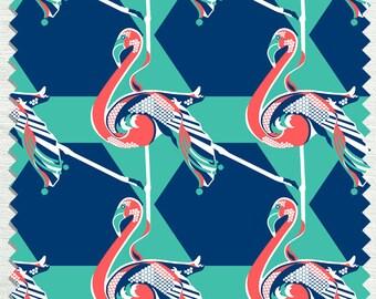 Fabric in Elle Mingo Pattern Tangerine color