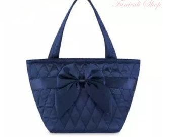 Funiculi Lady Shouder   bags Satin Quilted Trapeze with Bow