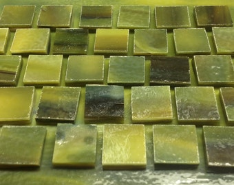 SEA GREEN, FOREST Green, Dark Green Stained Glass Supply Tiles C11