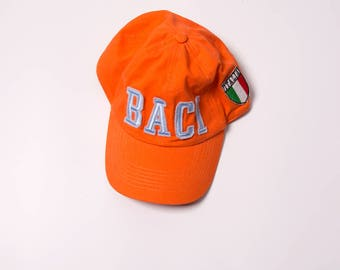 "Vintage Italian ""Baci Abbracci"" (hugs and kisses) Cap Hat"