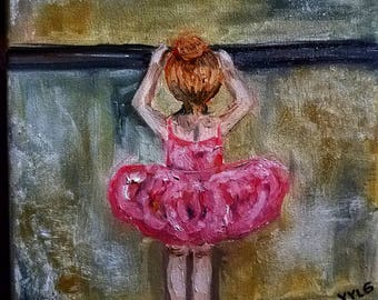 Little ballerina pink (Oil in canvas)
