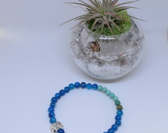 Blue Agate Mala Bracelet