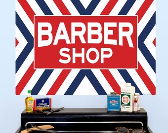 Barber Shop X Stripes Wall Decal - #58079