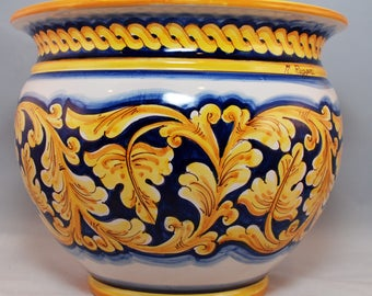 Traditional Sicilian Decorated Vase Planter