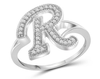 Letter r ring etsy popular items for letter r ring altavistaventures Image collections