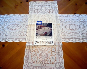 Vintage Quaker Lace Buffet Table Runner 15 X 36 InchesWhite House Pattern 6280 New Old Stock ECS SVFT