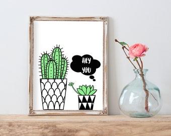 Cactus Printable, Cactus Wall Art, Cactus Digital Download, Cactus Print, Cactus Printable Art, Best selling items, printable art