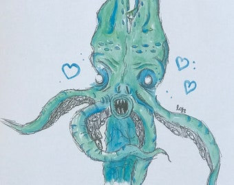 Alien Squidling ART PRINT