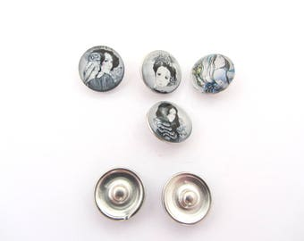 The lot of 4 buttons pressures chunk 18mm