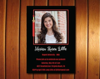 Photo Graduation Invitations, Tassel Graduation Invitation