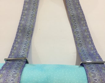 Lavender Psychedelic Yoga Mat Strap or All Purpose Carry Strap