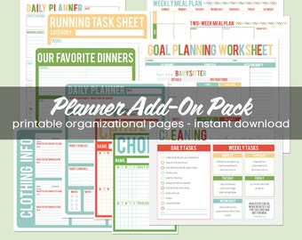 Printable Organizational Add-On Pack