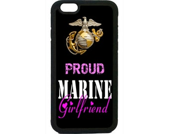 USMC Marines Marine Corps Proud Girlfriend iPhone 4 4s 5 5s  5C 6 6s 6 Plus 7 7 Plus iPod Touch 4 5 6 case Cover