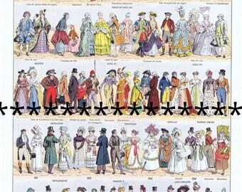 Pretty Picture.Paris.French.Antique.Costumes.Dress.Colourful.Twenties.Victorian.Home Deco.fashionista.mom.gift.vintage.retro.eco.art.stylish