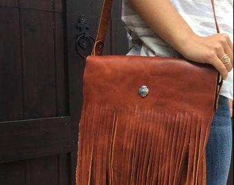 Saguaro Fringe Leather Bag