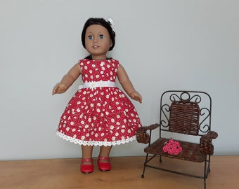 Red cotton daisy dress
