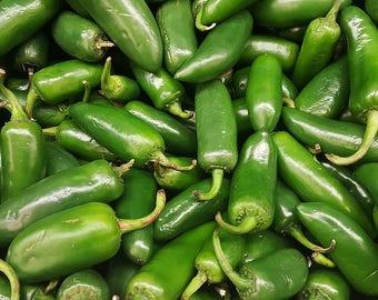 Pepper Early Jalapeno 25+ seeds - heirloom seeds - vegetable seeds - garden seeds - pepper seeds - hot pepper seeds - chili pepper seeds