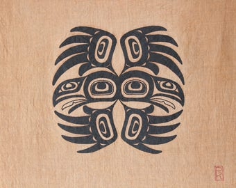 Two Ravens - Wall Hanging - First nations art