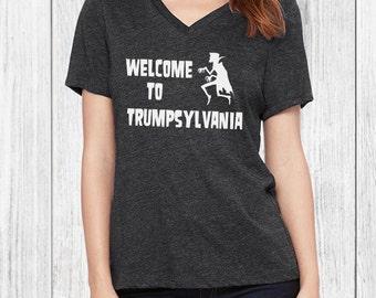 Trumpsylvania Womens Tshirt - anti trump, political tee, funny t-shirt, womens march, protest t shirt