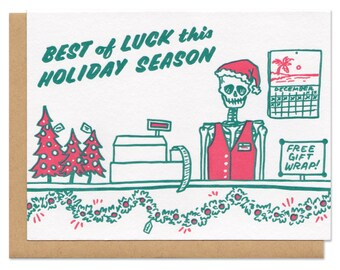 Best of Luck This Holiday Season Christmas Greeting Card
