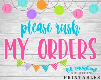 Rush Order: Multiple Printable Files - Guarantee in 24 hrs or less