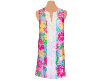 Bright Floral Shift Dress