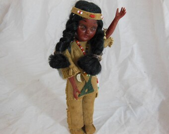 Vintage Carlson Indian Doll 1950s