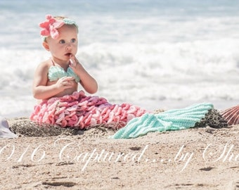 Custom Crochet Newborn Mermaid Photo Prop, Newborn Mermaid Outfit, Crochet Baby Mermaid, Baby Outfit, Baby Mermaid, Crochet Mermaid