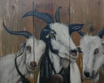 Goat trio, Original Art
