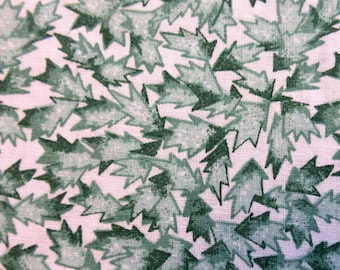 Green Leaf Quilt/Craft Fabric - Vintage - 1/2 Yd.