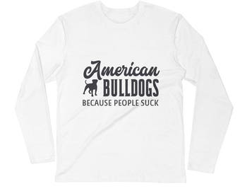 American Bulldogs Long Sleeve Fitted Crew