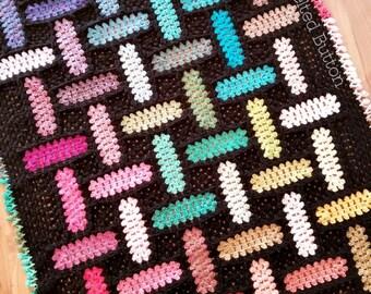 Crochet Pattern, Warp and Weft Blanket, Aghan, Baby Blanket, Throw