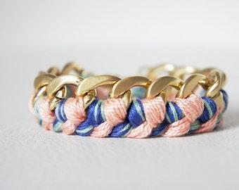 Braided  - Woven Gold Chain Bracelet