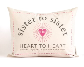 Customized Gift For Sister, Sister Gift, Sister To Sister, Going Away Gift, Customized Pillow, Throw Pillows, Home Decor