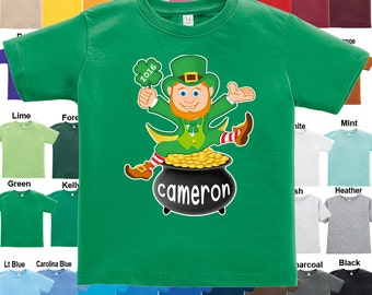 Leprechaun T-Shirt - St. Patrick's Day - Personalized with Name & Year / Boys / Girls / Infant / Toddler / Youth sizes