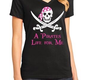 Pirate Shirt, A Pirates life for me,  Gasparilla Shirt.