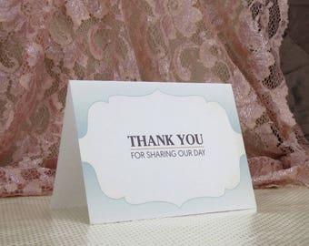 Summer Sunset Wedding Thank You card