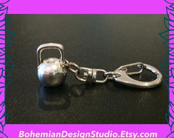 Fitness gift, kettlebell keychain, kettle bell keyring, gym jewellery, kettlebell queen, personal trainer kettle bell instructor gift UK