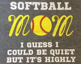 Softball shirt for mom, softball mom, fan shirt, baseball mom, womens shirt, womens tshirt, baseball shirt, softball shirt, tball shirt