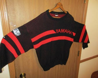 Vintage Mens Large Yamaha Snowmobile Sweater SRX?
